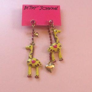 Brand new Betsey Johnson giraffe earrings!